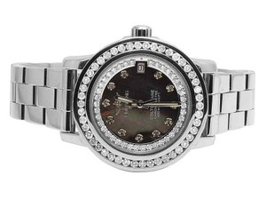 Breitling Custom Ladies Aeromarine Colt Oceane 33 Diamond Watch A77387 2.5 Ct