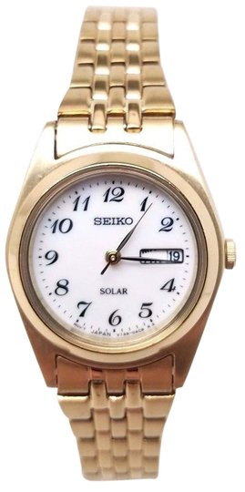 Preload https://img-static.tradesy.com/item/21713348/seiko-solar-day-and-date-white-dial-gold-tone-ststeel-women-s-watch-0-1-540-540.jpg