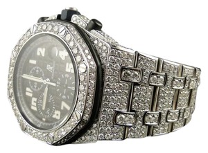 Audemars Piguet Mens Iced Out Royal Oak Offshore Diamond Watch 26 Ct