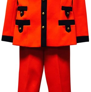 Lilli Ann Vintage Bright Red/Black Suits