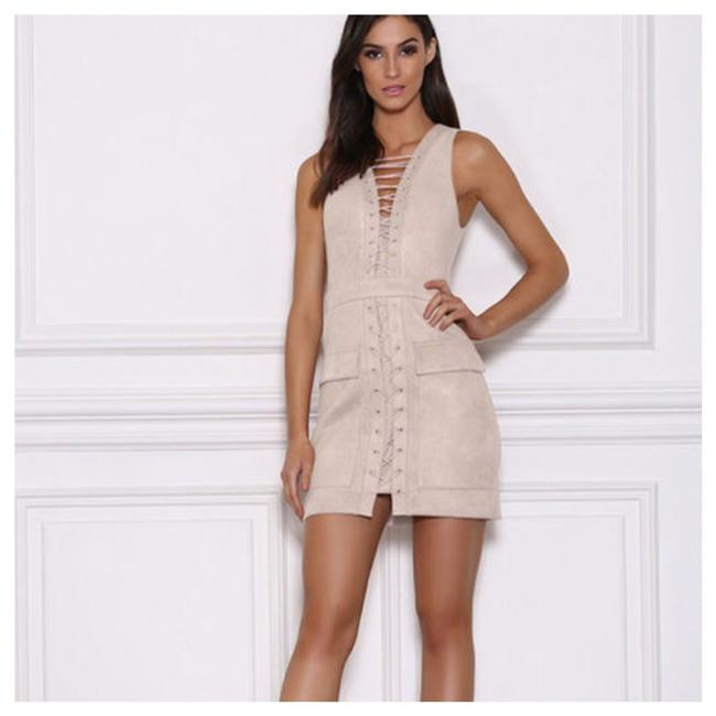 Preload https://img-static.tradesy.com/item/21713677/ivory-microfiber-faux-suede-lace-up-d9-short-casual-dress-size-6-s-0-1-650-650.jpg