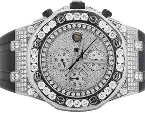 Audemars Piguet Mens 42 MM Royal Oak Offshore Rubber with 15.5 Ct of VS Diamond