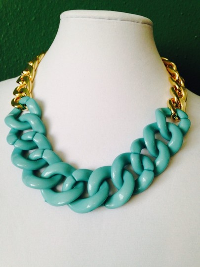 Other 3-Piece Set, Turquoise Enamel & Resin Gold Chain Set Image 1