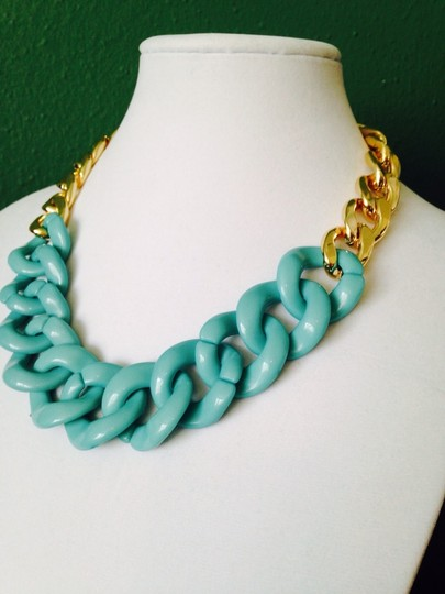 Other 3-Piece Set, Turquoise Enamel & Resin Gold Chain Set Image 2