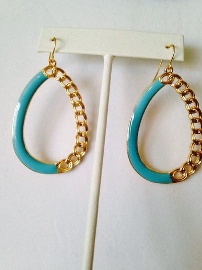 Other 3-Piece Set, Turquoise Enamel & Resin Gold Chain Set Image 4