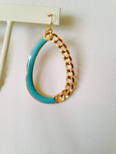 Other 3-Piece Set, Turquoise Enamel & Resin Gold Chain Set Image 5
