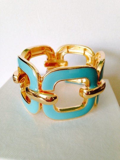 Other 3-Piece Set, Turquoise Enamel & Resin Gold Chain Set Image 6