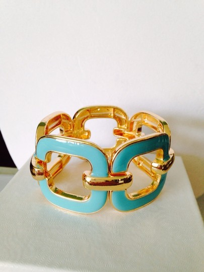 Other 3-Piece Set, Turquoise Enamel & Resin Gold Chain Set Image 7