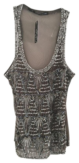 Item - Silver Beaded Tank Top/Cami Size 12 (L)