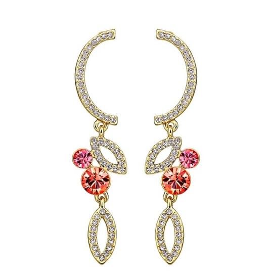 Preload https://img-static.tradesy.com/item/21713976/pink-and-orange-swarovski-crystals-curved-coral-s7-earrings-0-0-540-540.jpg