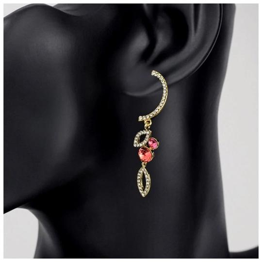 Other Swarovski Crystals Curved Coral Earrings S7 Image 1