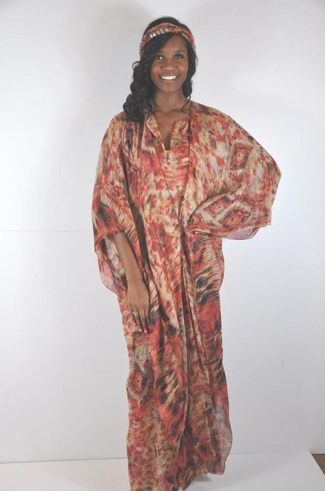 c606ece3ce393 Multi color Maxi Dress by Oscar de la Renta Sequin Embellished Kaftan Image  11. 123456789101112