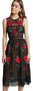 French Connection Amore Sparkle Embroidered Tulle Dress