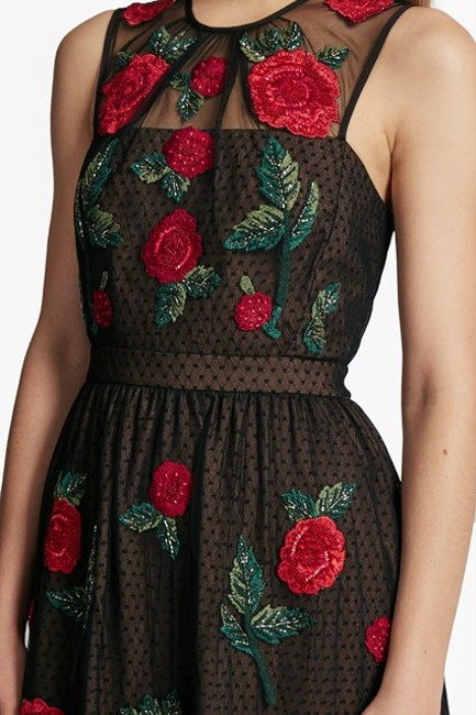 French Connection Amore Sparkle Embroidered Tulle Dress Image 3