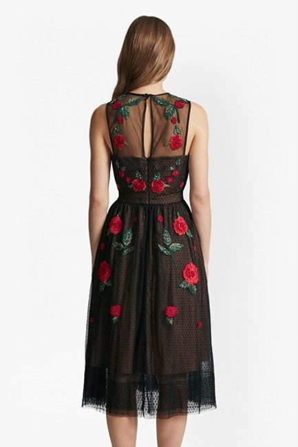 French Connection Amore Sparkle Embroidered Tulle Dress Image 4