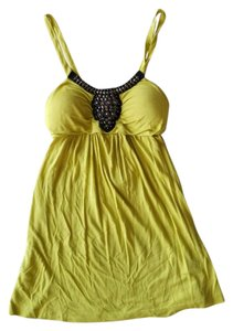 Rue 21 Embellished Green Dressy Yellow Top Chartreuse