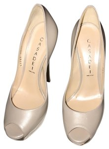 Casadei soft metal Ecru neutral Platforms