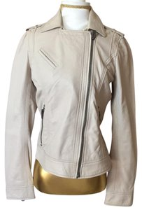 Lucky Brand Beige Leather Jacket