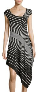 Wyatt short dress Black and White Striped Asymmetric on Tradesy