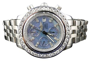 Breitling Custom Mens Windrider Evolution A13356 45 mm Diamond Watch 6 Ct