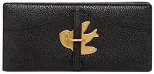 Marc by Marc Jacobs Nwt Bifold Leather Bird Petal To The Metal Wallet