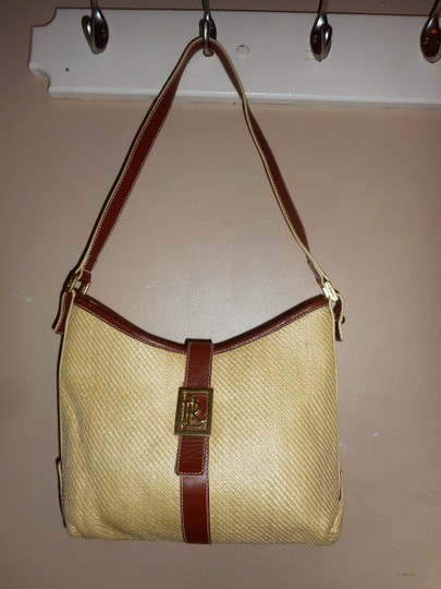 Ralph Lauren Straw Jute Leather Tote Shoulder Bag Image 1