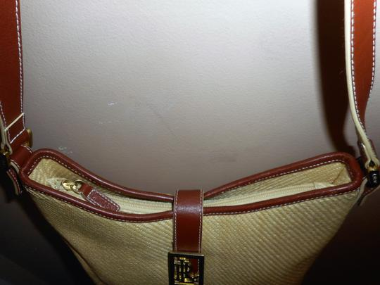 Ralph Lauren Straw Jute Leather Tote Shoulder Bag Image 11