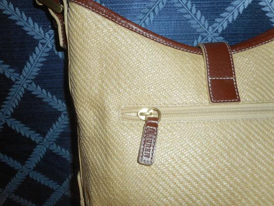 Ralph Lauren Straw Jute Leather Tote Shoulder Bag Image 7