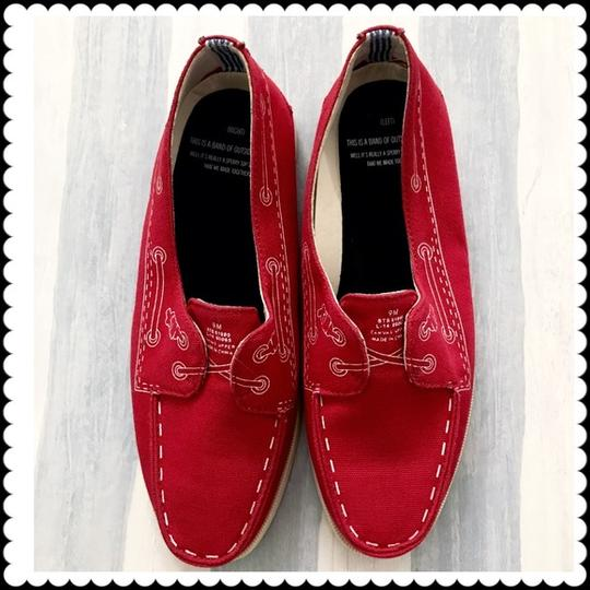 Band of Outsiders Sperry Boat Canvas red Flats Image 1