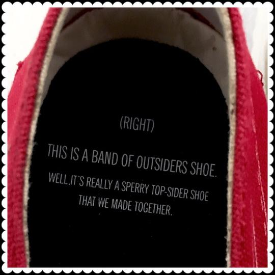 Band of Outsiders Sperry Boat Canvas red Flats Image 3