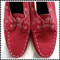 Band of Outsiders Sperry Boat Canvas red Flats Image 5