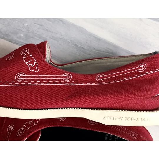 Band of Outsiders Sperry Boat Canvas red Flats Image 7