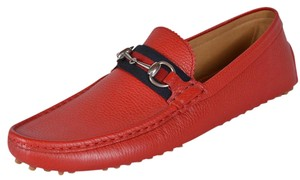 Gucci Men's Loafers Drivers Red Flats