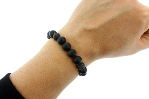 Stephen Webster Stephen Webster Men's No Regrets pave black sapphire bead bracelet