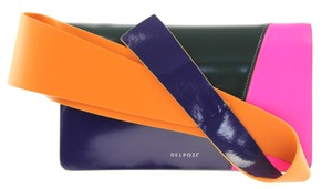 Delpozo Colorful Bags Blue/Orange/Pink/Green Clutch