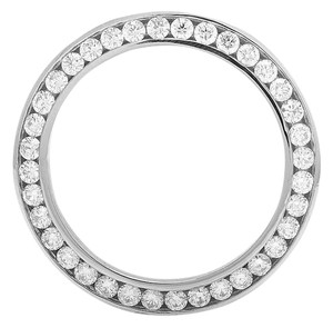 Jewelry Unlimited Stainless Steel Channel Set Diamond Bezel for Rolex President 4.0 Ct