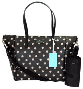 Kate Spade Adaira Laurel Way Poka Dot Black dot Diaper Bag