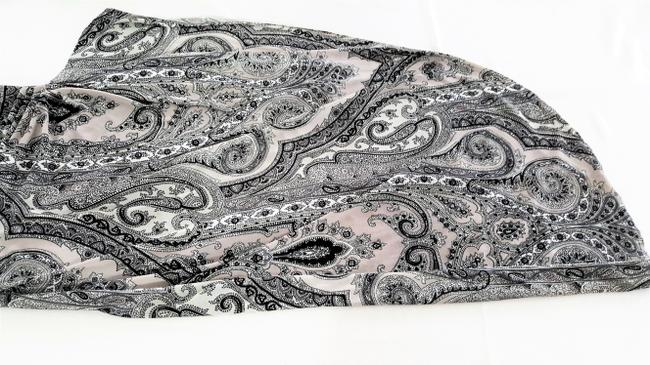 Grey paisley Maxi Dress by Kay Unger N Black Accentuates The Body High Slit At Side Sexy When Worn Image 3