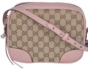 870178e81006 Gucci Small Cross Body Bag. Gucci. New 449413 Canvas Leather Gg Bree ...