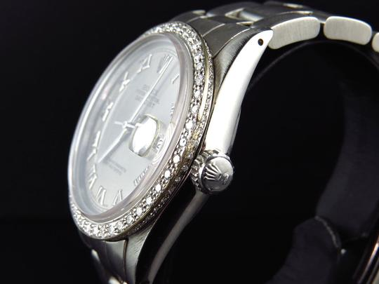 Rolex Mens 36 MM Datejust Oyster Stainless Steel White Diamond Watch 2.5 Ct Image 2