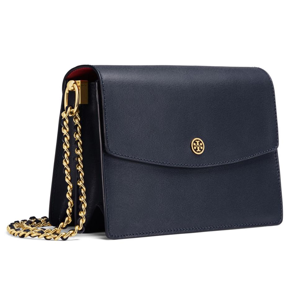e3f10f5f2be Tory Burch Parker Convertible Royal Blue Samba Leather Shoulder Bag -  Tradesy