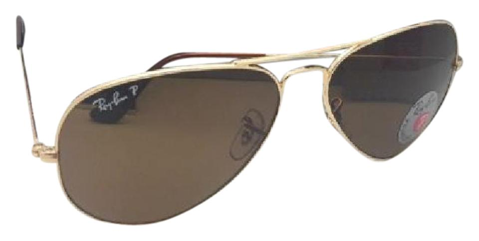 8aaf6457c42bb Ray-Ban Polarized Large Metal Rb 3025 001 57 58-14 135 Gold W Brown ...