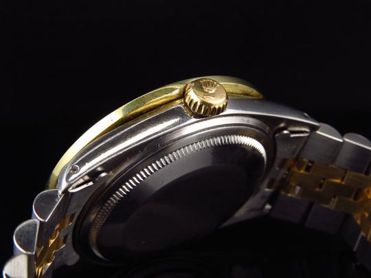 Rolex Mens Datejust Two Tone Oyster 18k / Steel 16013 Diamond Watch 4 Ct Image 2