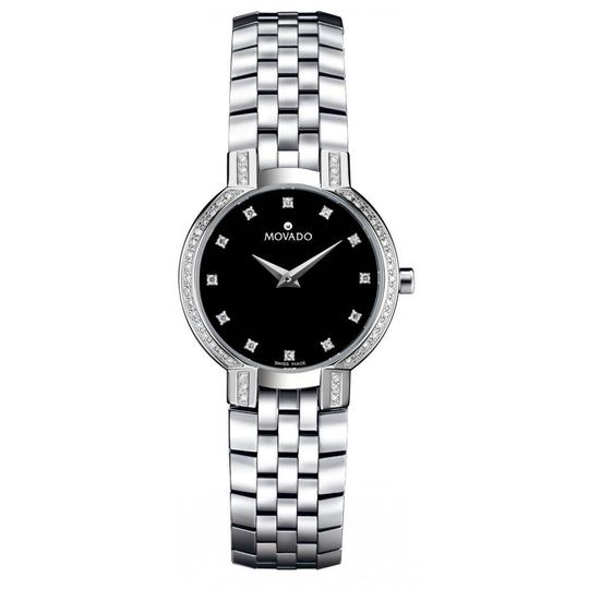 Preload https://item2.tradesy.com/images/movado-faceto-diamond-black-dial-stainless-steel-ladies-watch-21715126-0-0.jpg?width=440&height=440