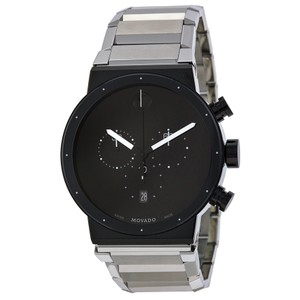 Movado MOVADO Synergy Chronograph Black Dial Stainless Steel Men's Watch