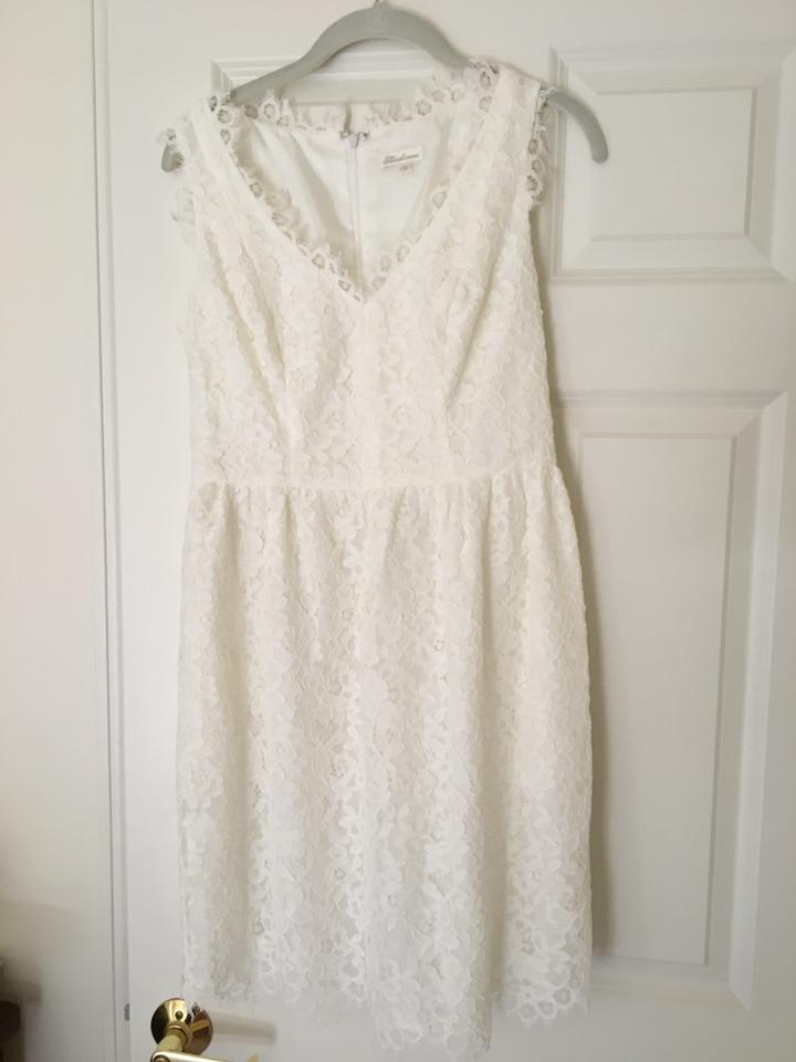 Shoshanna Ivory Sierra Scalloped Lace Mid Length Cocktail Dress Size 6 S 84 Off Retail
