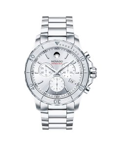 Movado Series 800 Chronograph Silver Dial Stainless Steel Men's Watch