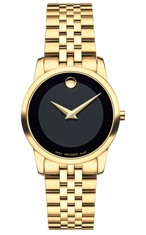 715853a59cf564 Movado Museum Classic Black Dial Yellow Gold PVD-finished Stainless Steel  Image 0 ...
