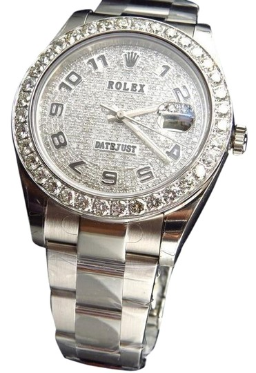 Preload https://img-static.tradesy.com/item/21715262/rolex-stainless-steel-custom-mens-new-41-mm-116300-date-just-il-2-with-genuine-diamonds-7-ct-watch-0-3-540-540.jpg