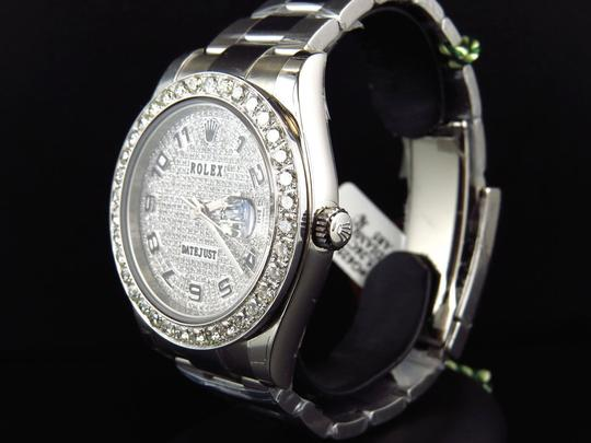 Rolex Custom Mens New 41 MM 116300 Date Just Il 2 With Genuine Diamonds 7 Ct Image 1